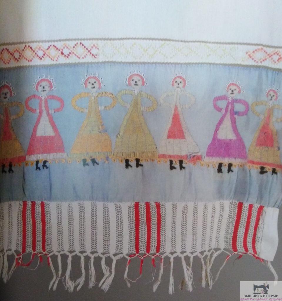 Вышивка нитками. История уральской вышивки. Хоровод женский образ в вышивке