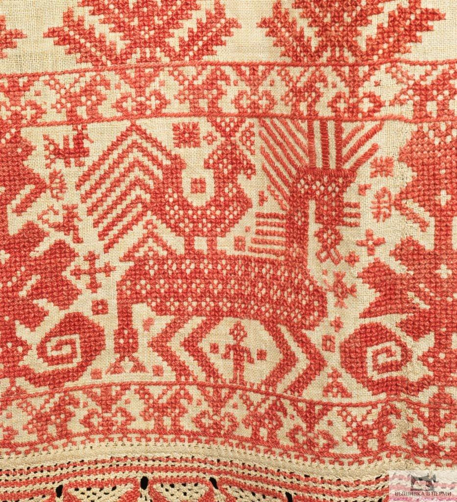 Вышивка нитками. История уральской вышивки. Символ коня и птицы