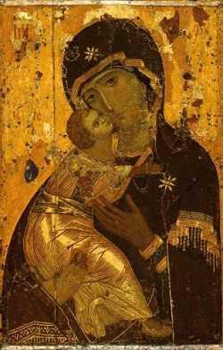 Вышивка иконы Пресвятой Богородицы Владимирская
