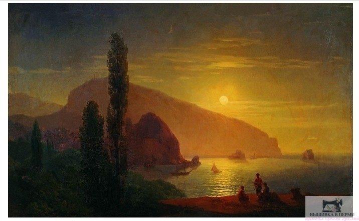 Вышивка картины «Крымская ночь»